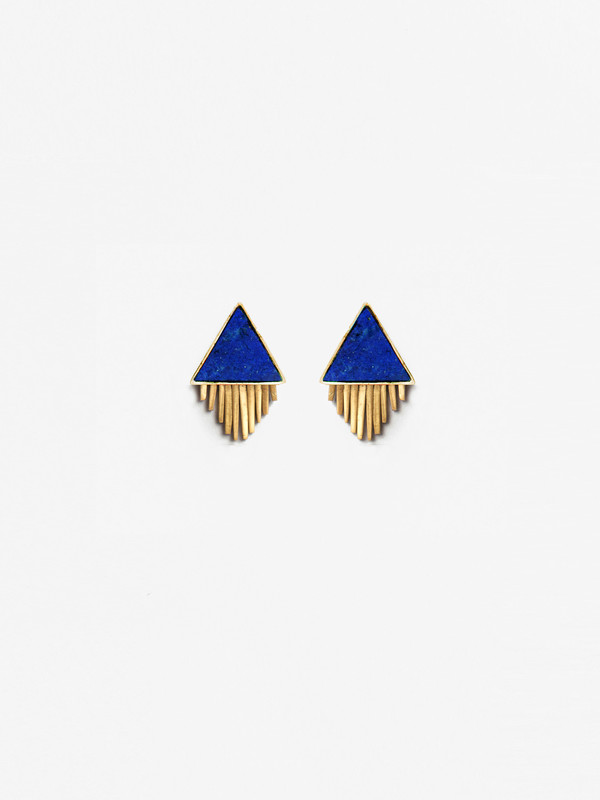 A Peace Treaty Ilna Lapis Earrings