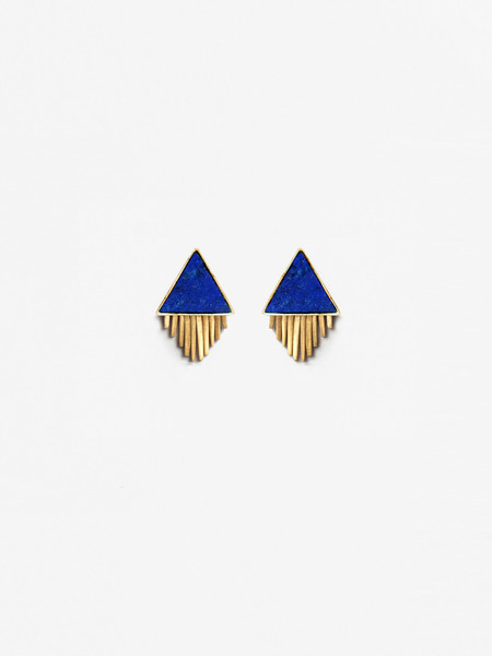 A Peace Treaty Ilna Lapis Earrings