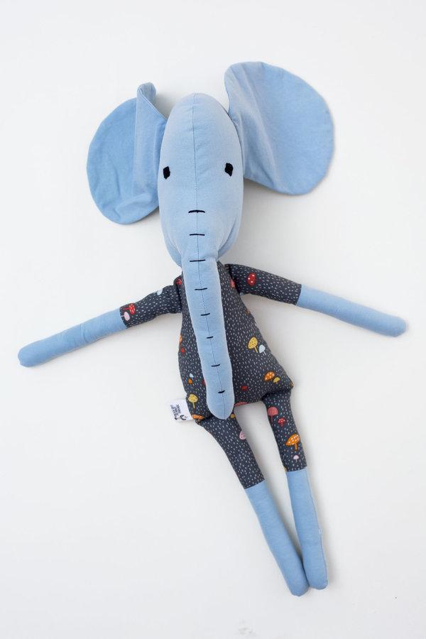 Polka-Dot Peanut Parade elephant soft toy