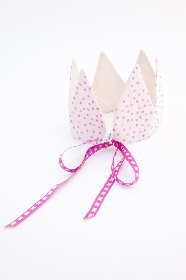 crown - pink sparkle dots