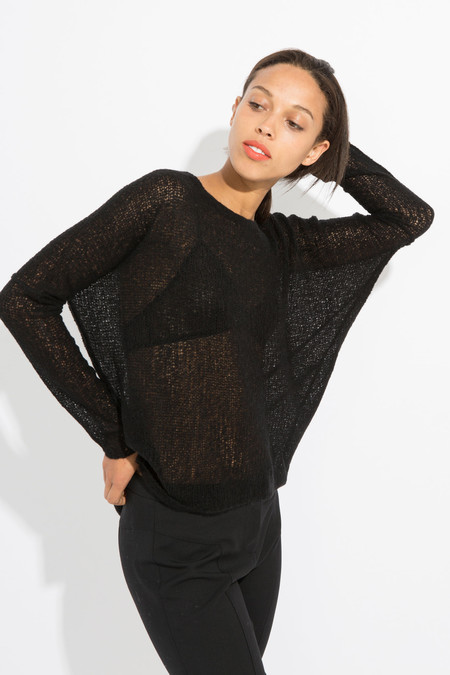 Paychi Guh Sheer Pullover - Black