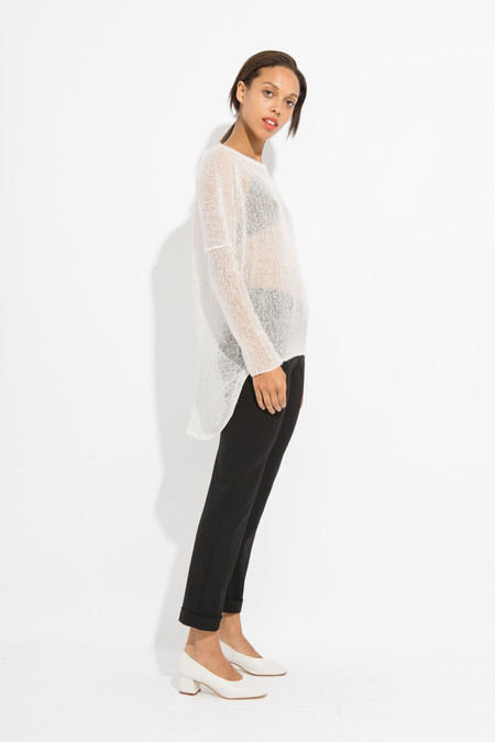 Paychi Guh Sheer Pullover - White
