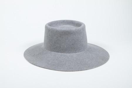 Clyde Wide Brim Gaucho Hat in Heather Grey Wool