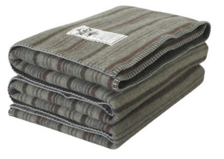 Woolrich Sherpa Rough Rider Stripe Wool Blanket