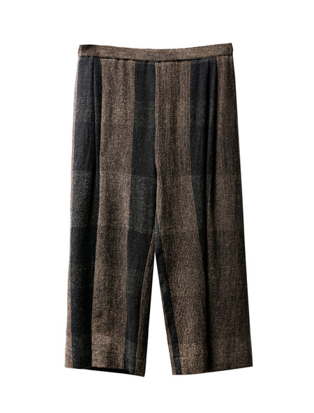 Stephan Schneider Womens Trousers Interior Dark Plaid