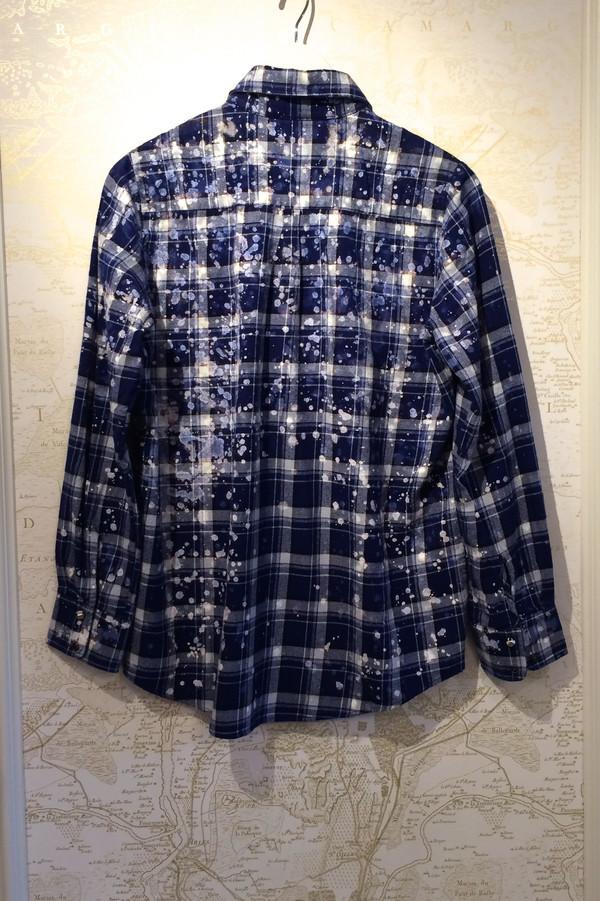 Roseanna Paint Drip 'Harry' Plaid Shirt