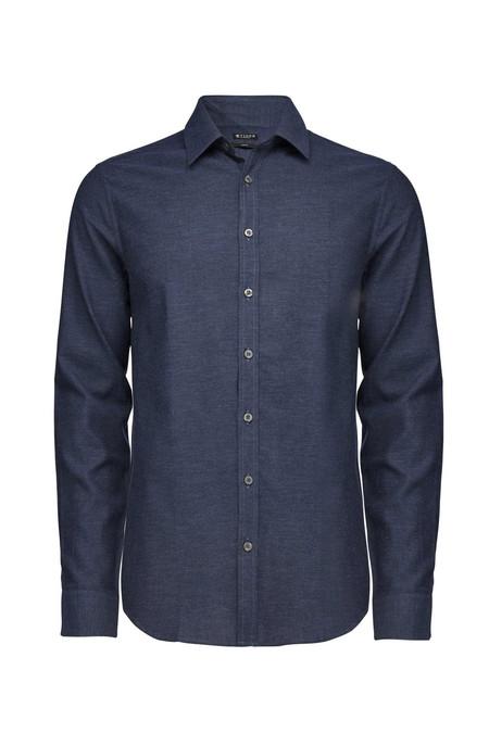 Men's Tiger of Sweden Steel 8 Cotton Shirt   Sky