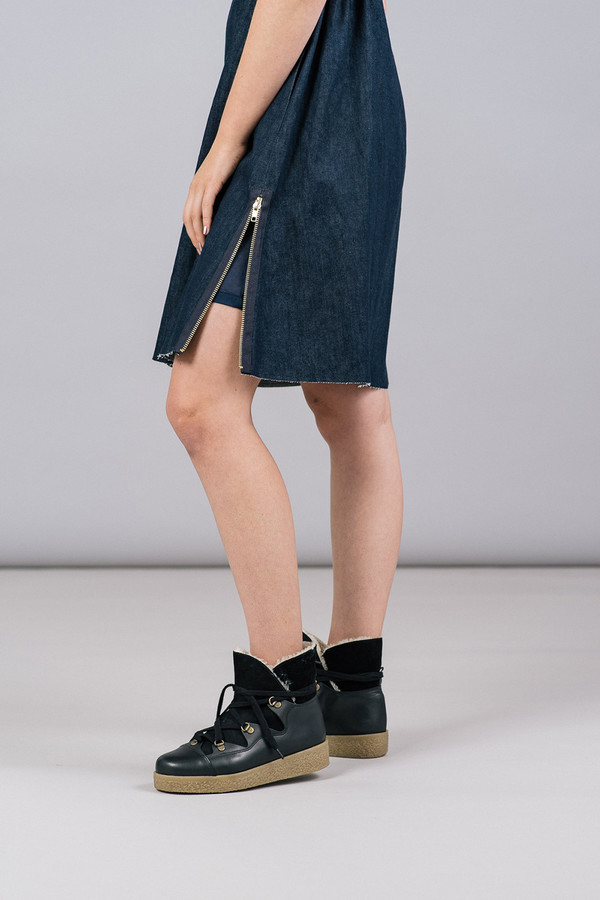 Harvey Faircloth Sleeveless Denim Dress