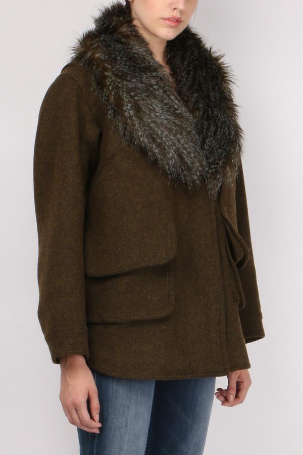Smythe Flak Jacket with Faux Fur