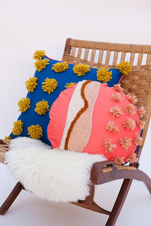 Lykke Wullf x Farron: Blue Pom Pom Pillow