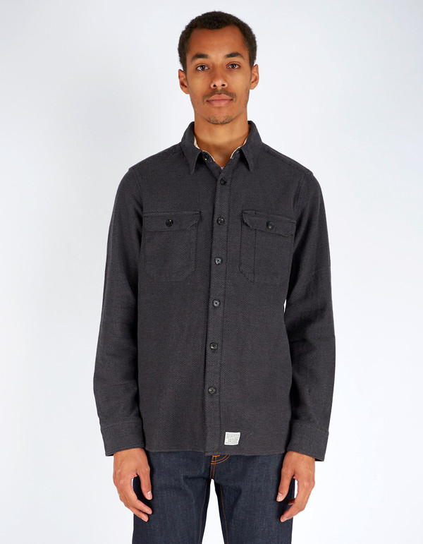 Men's Deus Maxwell Dobby Overshirt Charcoal