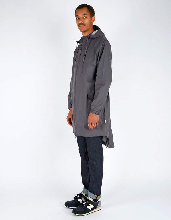 Men's Rains Parka Coat Smoke