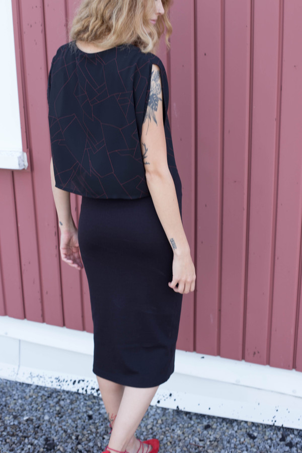 Eve Gravel Constellation Dress