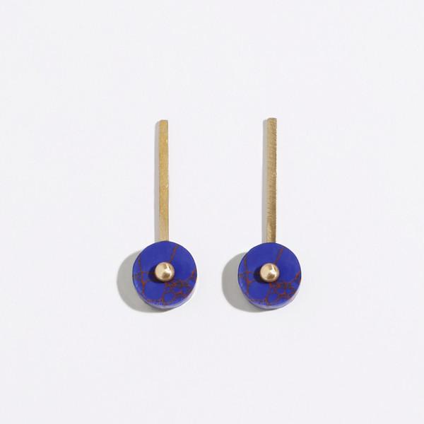 Metalepsis Projects Disc Earrings - Blue
