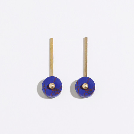 Metalepsis Projects Disc Earrings - Blue