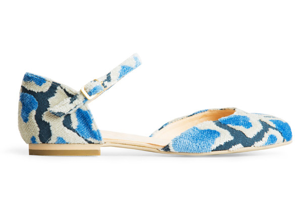 Rafa Mary Jane Ballet Flat – Blue Loom