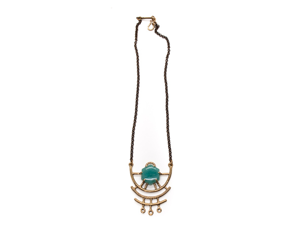 Laurel Hill Jewelry Dreamweaver Necklace // Amazonite