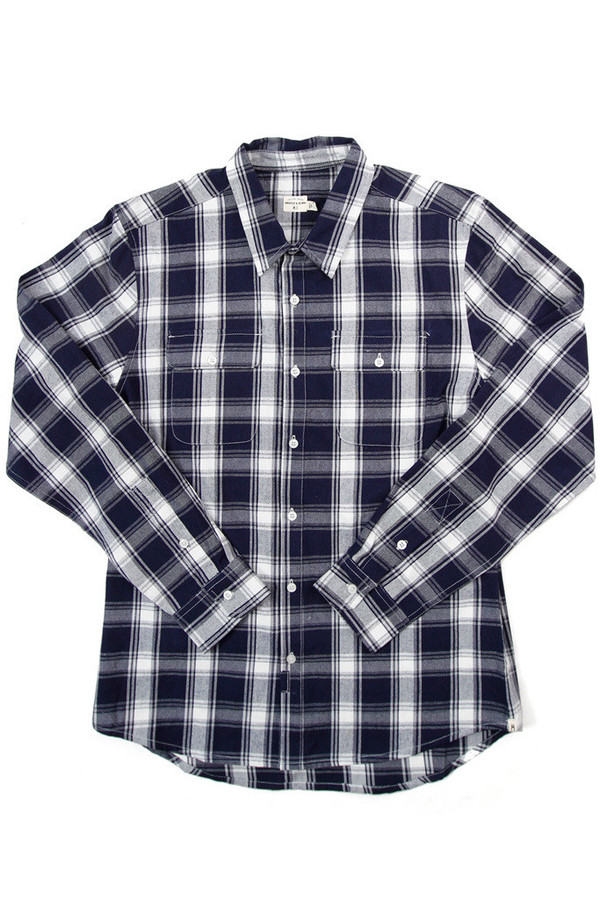 Men's Bridge & Burn Franklin Navy Ivory Plaid