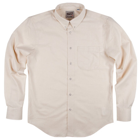 Men's Naked & Famous CHEMISE EN KAPOK NATUREL / NATURAL KAPOK SHIRT
