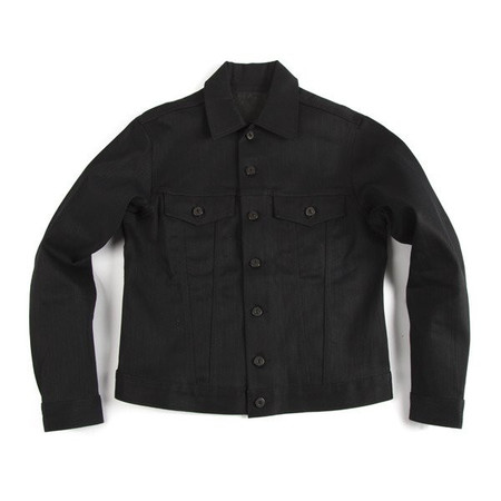 Men's Naked & Famous VESTE EN DENIM NOIR / BLACK DENIM JACKET
