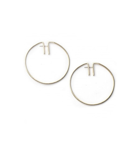 Fay Andrada Brass Rako Hoop Earrings