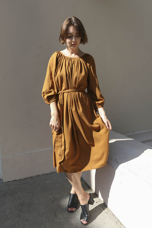 Lindsay Robinson Hutton Dress in Toffee