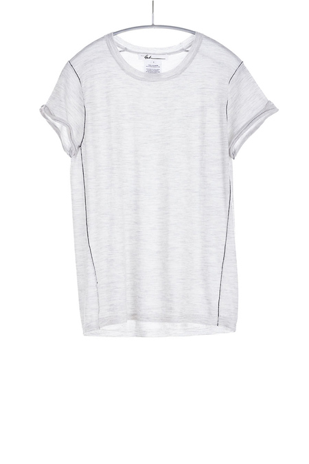 Paychi Guh Cashmere Baby Tee Dove Grey