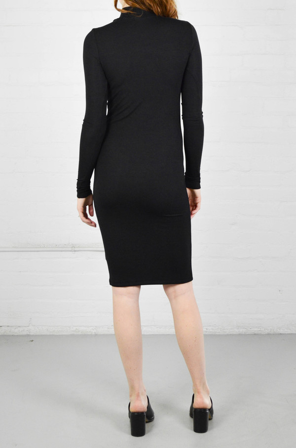 ATM Anthony Thomas Melillo ATM Modal Rib Long Sleeve Mock Neck Dress