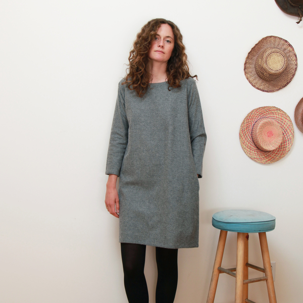 Me & Arrow Fuzzy Dress - Fuzzy Heather Grey