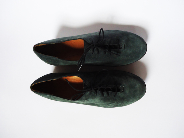 PRE-ORDER HOPP Forest Green Suede Essential Oxford