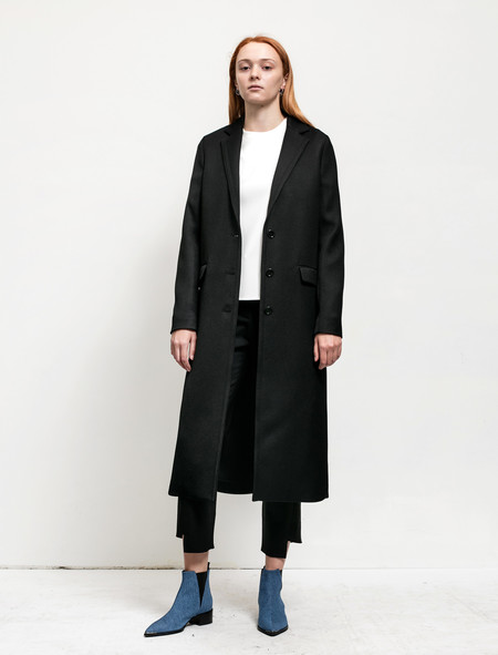 Acne Studios Womens Avra Twill Coat Black