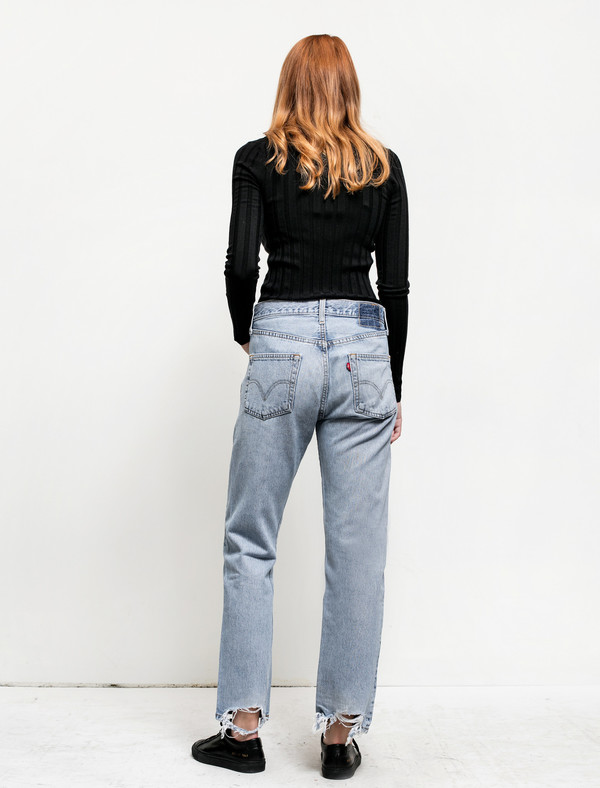B Sides Womens Patchwork Denim 5/5