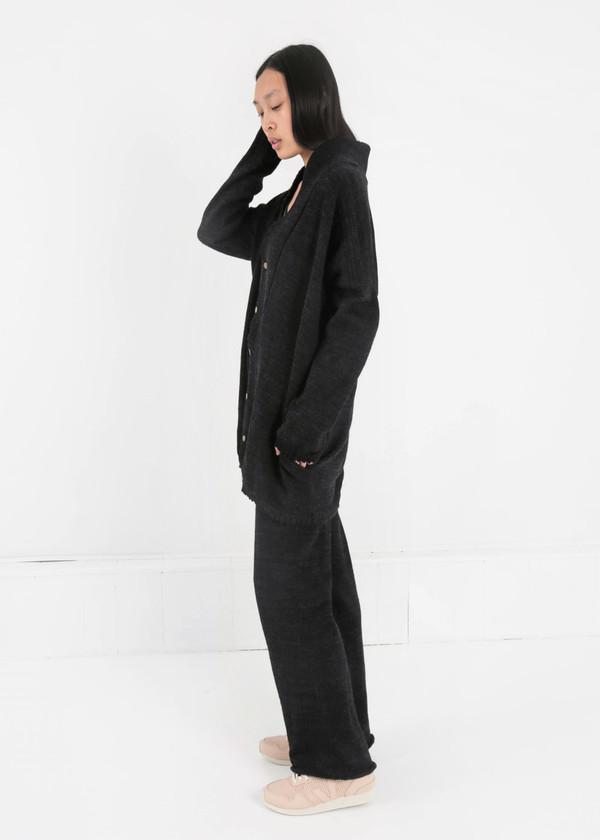 été noir Knit Coat