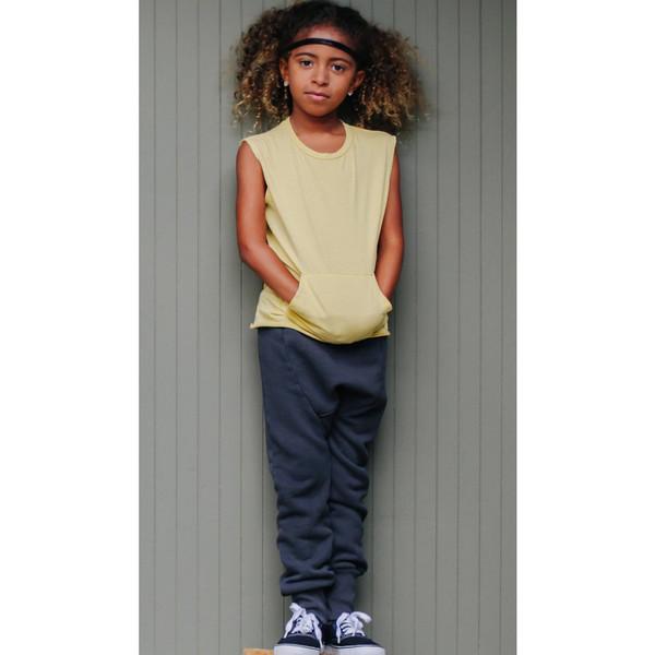 Kid's Mimobee Lowrider Harem Leggings - Charcoal