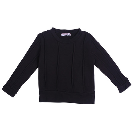Kid's Mimobee Rugger Piped Sweat - Black