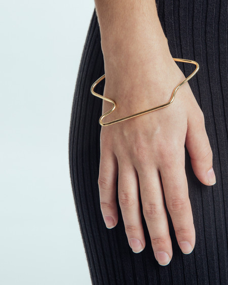 Faux/Real Stressed Out Bangle in Gold