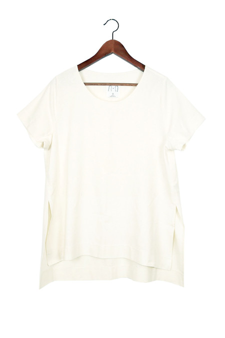 Jamie + The Jones Split Tee, Natural Raw Silk