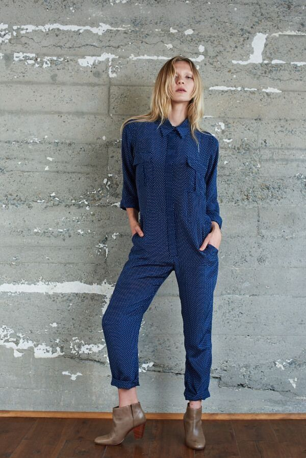 Maud Silk Utility Jumpsuit