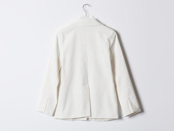 Maryam Nassir Zadeh Clara White Cord Jacket