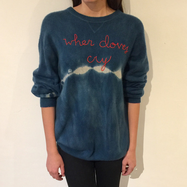 Lingua Franca NYC Cashmere Sweater - When Doves Cry