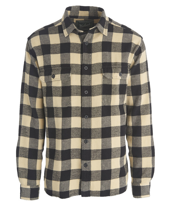 Men's Woolrich Oxbow Bend Plaid Flannel Shirt - Black Buffalo