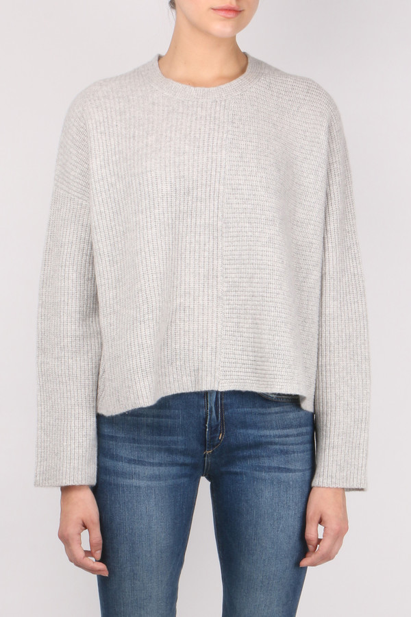 Allude Dual Ribbed Pullover