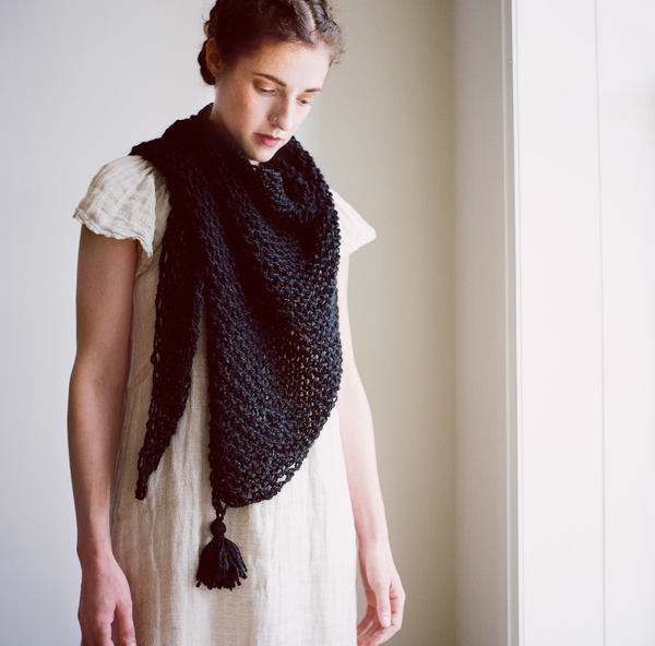 good night, day LIMITED Kirkendall wrap w/ tassles (shown in black baby llama)
