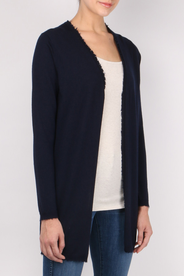 Allude Long Open Cardigan