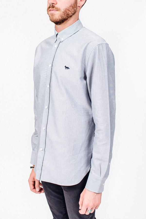 Men's Maison Kitsune Oxford Embroidery Classic Shirt