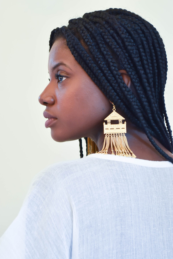A Peace Treaty Amesha Gold Earrings