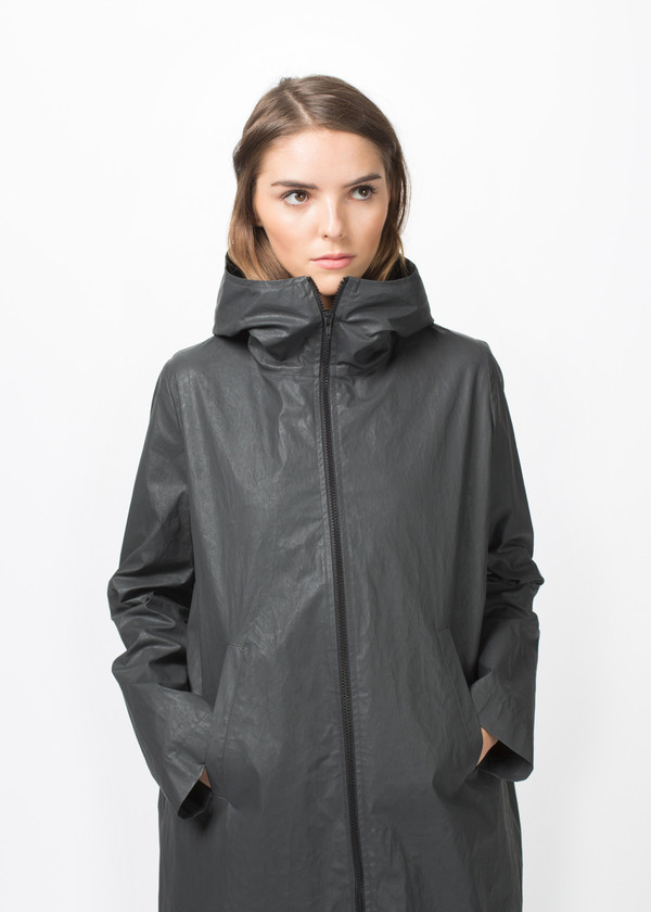 Hudson 3/4 Length Hooded Coat