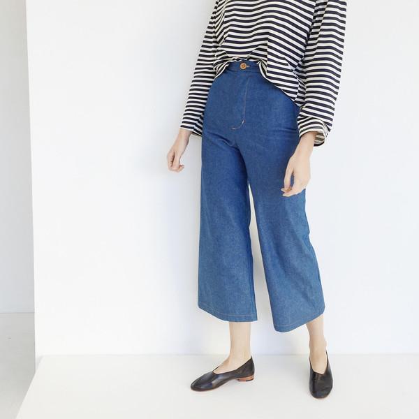 Laurs Kemp Denim Wide Leg Crop Pant