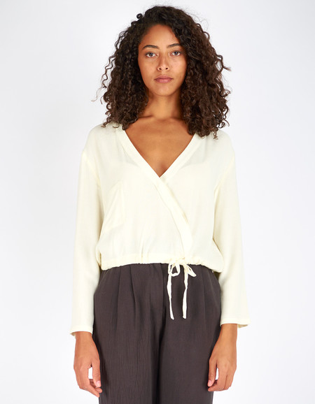 First Rite Crossover Blouse Natural