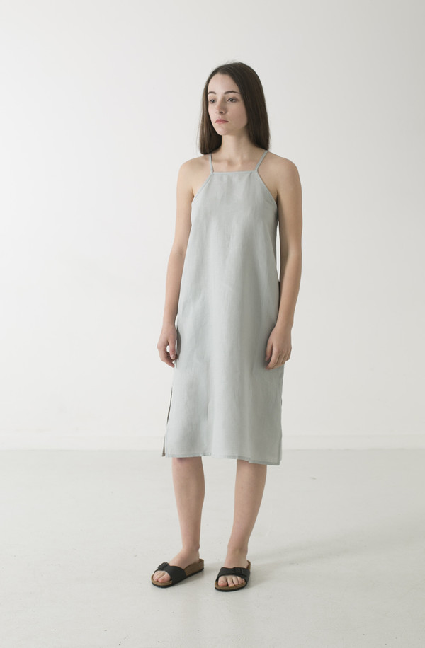 GOOD STUDIOS WOMENS HEMP LINEN PINAFORE DRESS